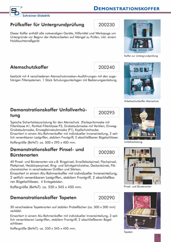 Datenblatt Demonstrationskoffer